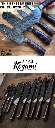 The Kogami Steel Premium Chef Knife Collection puts all others to shame! 🔪 ▪️ Expertly crafted ▪️ Razor-sharp ▪️ Ergonomic wooden non-slip handle ▪️ Available in 3, 5, 8 pc sets 🎁 Enjoy 40% off for a limited time Kitchen Knives, Kitchen Gadgets, Chef Knives, Cozy Place, Drill Bit, Ocean City, Knife Making, Knifes, Tupperware