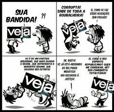 """""""Veja"""", símbolo maior do jornalismo de esgoto praticado no Brasil. Lei de Meios já!"""