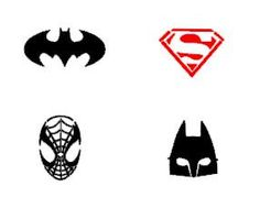 Batman, Superman, Spiderman Stencil Set.