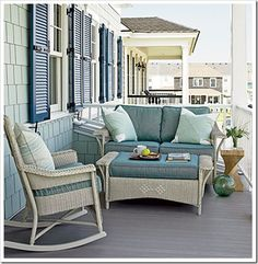 Beach Home. Master Bedroom Private deck ... um, yes please.