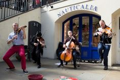 Abraxas Ensemble performing in Covent Garden London.
