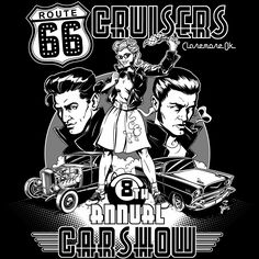 Route 66 Cruisers 8th Annual Carshow T-shirt