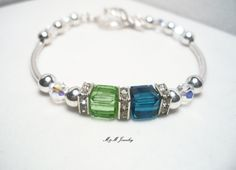 Mothers+Birthstone+Bracelet+Mother+Mom+Mommy+by+MandMJewelry,+$34.00