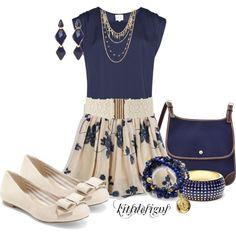 """Simple Linen Skirt"" by kitsdesigns on Polyvore"