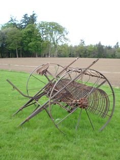 Old hay rake in southern Eire