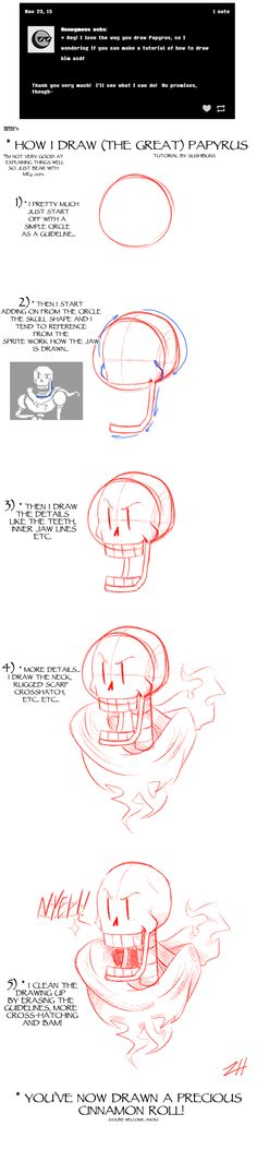 How I draw (The Great) Papyrus by Sushirolled.deviantart.com on @DeviantArt