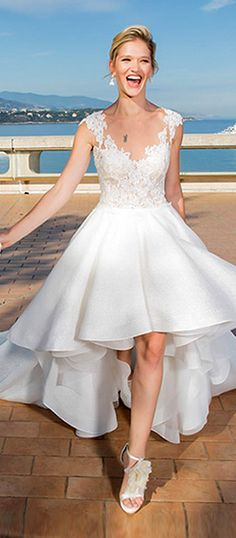 Classic Tulle & Satin Sweetheart Neckline A-Line Wedding Dresses With Beaded Lace Appliques