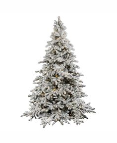 vickerman 75 flocked utica fir artificial christmas tree with 850 warm white led lights white