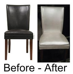 Perfect Painted Leather Dining Chairs