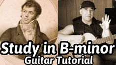 "Guitar Lesson ""Study In B-minor"" Fernando Sor - Classical Guitar Tutoria. Classical Guitar Lessons, B Minor, Guitar Tutorial, Guitar Tabs, Drugs, Sheet Music, Study, Writing, Quinceanera"