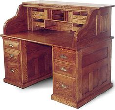 Old roll top desk had a nice one until our house burned in 2006