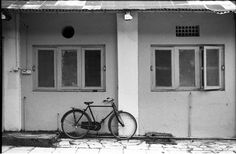 Bicycle by the abandoned building. Opposite the Camera Store at the Film and Television Institute of India. Shot ok Kodak Motion Picture Negative 5222.