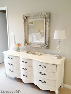 A Modern French Provincial  Metal Mirror Dresser And Mystery Entrancing White Bedroom Dresser Design Ideas