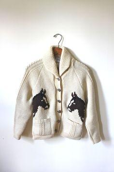 vintage EQUESTRIAN sweater
