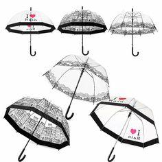 Punho longo Guarda chuva Transparente Semi Automático Ensolarado Chuvoso Umbrella Mulheres Meninas Ao Ar Livre Ferramentas Cidade Cenário Da Cidade em Guarda-chuvas de Home & Garden no AliExpress.com | Alibaba Group