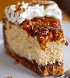 Caramel Toffee Crunch Cheesecake