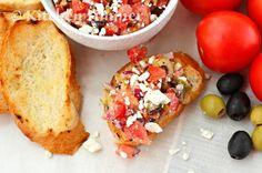 Greek Tomato and Feta Bruschetta Appetizer