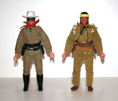 "Vintage 1970's Gabriel THE LONE RANGER & TONTO Complete 10"" Action Figures The Lone Ranger, Workout Machines, Historical Pictures, Barbie And Ken, Vintage Dolls, Cover Art, Gabriel, Childhood Memories, Action Figures"