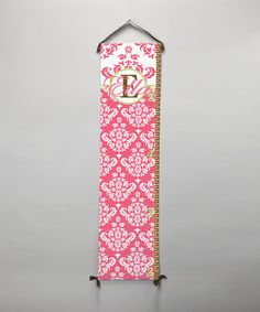 Take a look at this BronStar Originals Pink Damask Personalized Growth Chart by BronStar Originals on #zulily today!