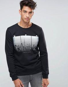New Look | New Look Sweatshirt In Black With New York Print