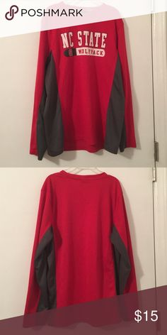 NCSU WOLFPACK Shirt! Great condition! Calling all state fans! Dri-fit material! Tops Tees - Long Sleeve