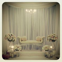 Sweet and simple wedding backdrop