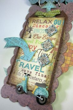 Travel Mini Album - Scrapbook.com - Love this little travel album. #scrapbooking #minialbums