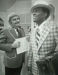 Vintage 1976, Captain Kangaroo with Nipsey Russell, CBS, NYC, www.RevWill.com