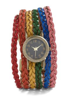 Haste the Rainbow Watch, #ModCloth  If anyone loves me and wants to get this for me for christmas i will love them eternally.