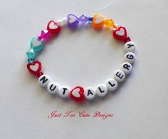 Child Nut Peanut Allergy Bracelet Back to by Justtoocutedesigns, $4.50