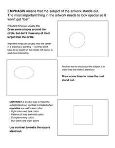 Emphasis/ Contrast worksheet