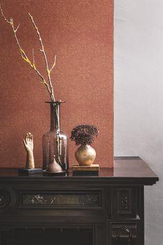 Oranje Behang / Orange Wallpaper collection Chacran - BN Wallcoverings