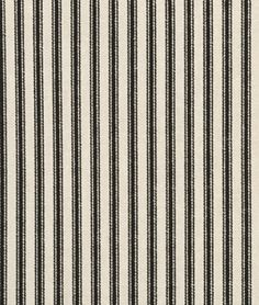 Shop Waverly Timeless Ticking - Black / Cream Fabric at onlinefabricstore.net for $13/ Yard. Best Price & Service.