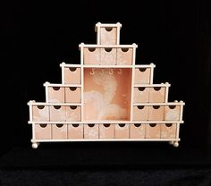25 Drawer Apothecary Style Jewelry Box Coral Pink Jewelry