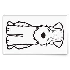 Softcoated Wheaten Terrier Dog Cartoon Rectangular Sticker