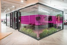 Social Tables Headquarters - Like the combination of color, greenery and design