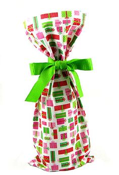 Reusable Fabric Wine Bottle Gift Bags | VZWraps
