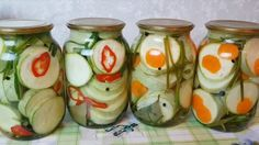 cukkini-savanyusag-tartositoszer-nelkul-a-teli-idoszakban-jol-fog-jonni0 Hungarian Recipes, Sweet Desserts, No Bake Cake, Pickles, Cucumber, Sushi, Low Carb, Cooking Recipes, Canning