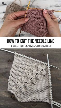 Knitting Stiches, Baby Knitting Patterns, Knitting Designs, Knitting Yarn, Free Knitting, Knitting Projects, Crochet Stitches, Knit Crochet, Crochet Patterns