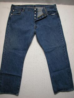 56641849a14 Men s Levis 501XX 44X30 Straight Leg Button Fly Blue Denim Jeans  (Measure44x30)  Levis