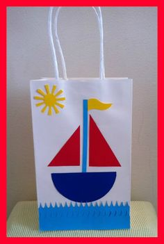 Nautical Boat themed Birthday party Goody bag by YourPartyPeople Sailor Birthday, Sailor Party, Baby Birthday, First Birthday Parties, Birthday Party Themes, First Birthdays, Sailor Theme, Nautical Party, Party Bags