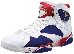 c8e09d9c6d7 Nike Jordan Men s Air Jordan 7 Retro White Mtlc Gld Cn Dp Ryl Bl Fr  Basketball Shoe 10 Men US  Relive the glory days of MJ and his cartoon  friend in this ...