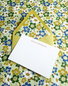 Personalized Stationery Custom Note Cards Flat Note by PikakePress, $15.00