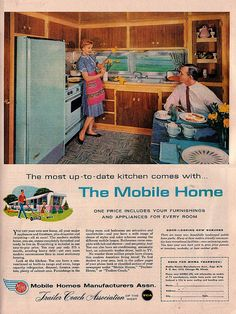 Mobile Home Ad by saltycotton, via Flickr/ Very close to my first house