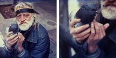 The Bird Man // Mission Street // San Francisco, California (diptych)