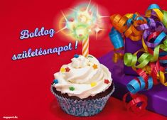 Boldog születésnapot! (gif animált képeslap) - Megaport Media Share Pictures, Animated Gifs, Desserts, Watch, Google, Tailgate Desserts, Deserts, Clock, Bracelet Watch