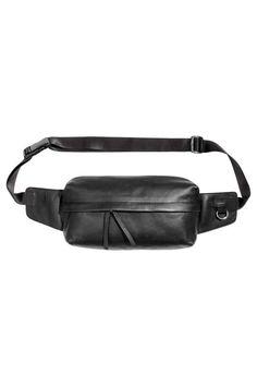 Leather waist bag - Black - Men | H&M 1