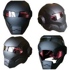 Iron Man Motorcycle Helmet - Flat Black