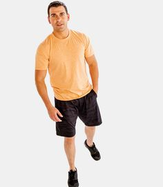 With Alanic USA , you will get the finest quality of short sleeve t shirts mens  and each of the products is made from the best material you will come across in the market. Short Sleeve Tee, Short Sleeves, Peach Orange, Mens Activewear, Tee Shirts, Tees, Workout Shorts, Tshirts Online, Crew Neck