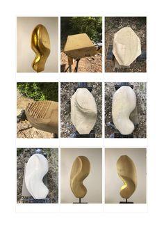"""""""GoldWelle"""": Holz Skulptur aus Linde, geölt und z.T. mit 24 Karat Blattgold vergoldet. Weitere Skulpturen aus Holz und Stein des Bildhauers aus Köln, z.T. vergoldet mit 24 Karat Blattgold sind auf meiner website zu sehen."""